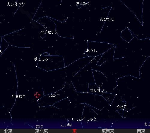 2010 12 14 ふたご座流星群星図