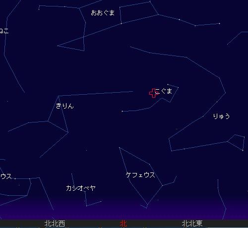 2010 12 23 こぐま座流星群星図