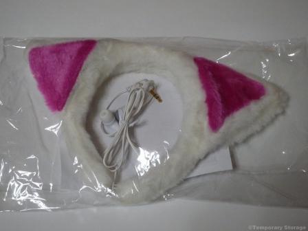 猫耳イヤフォン ホワイト CATBUDWH