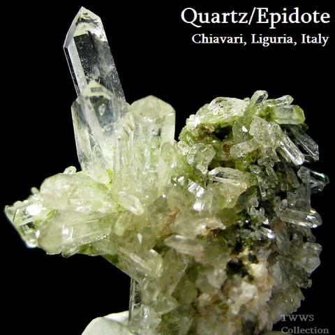 水晶&緑簾石_イタリア2