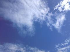 台風後の空1
