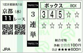 2011 京都金杯 3連単
