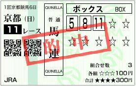 2011 日経新春杯 馬連