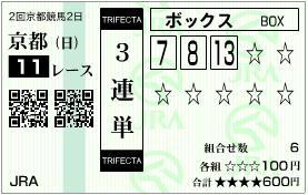 2011 京都牝馬S 3連単