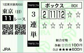 2011 共同通信杯 3連単