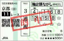 2011 秋華賞3連複