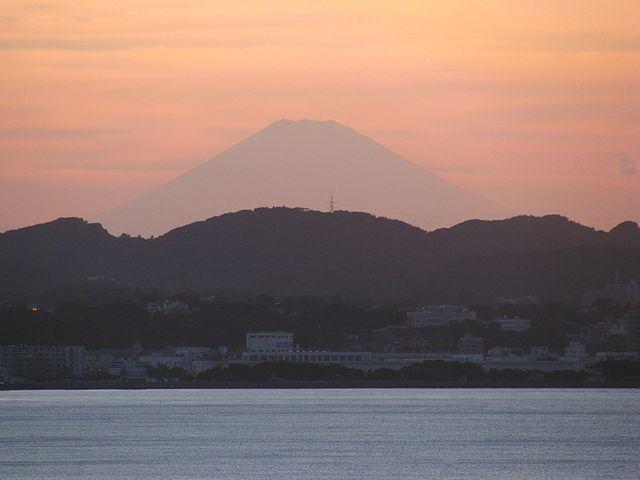 富士山と夕景
