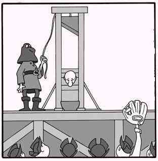 A la guillotina