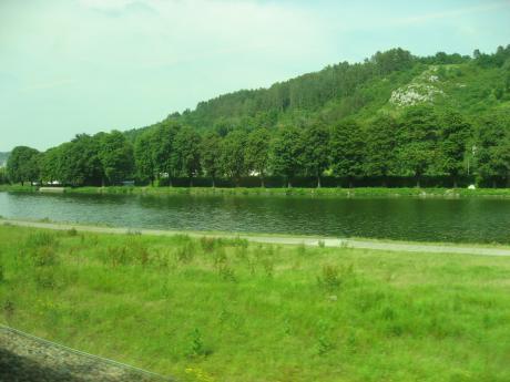 車窓からミューズ川