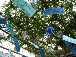 「宮島さん宵祭り・2009.8.2」、境内の子供風鈴2
