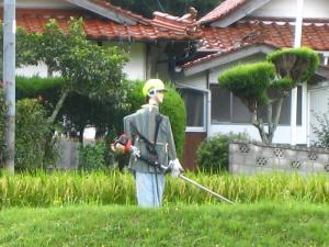 「案山子、かかし」、府中市三川、2009.夏、3
