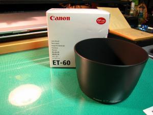 Canon EOS、「レンズフードET-60」、1
