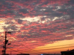 2009.8.23.「神辺の夕焼け」、