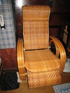 「籐椅子・夏仕様」
