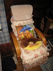 「籐椅子・冬仕様」