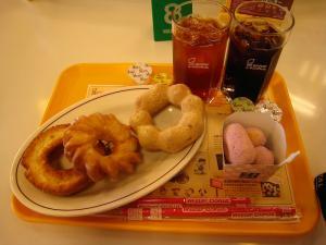 ミスタードーナツ「オールドファッション、クッキー・クルーラー、ポンデ豆腐・きな粉、プチぱふ・紫芋」、