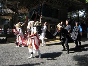 2009.10.12.・「秋祭り、猿田彦&獅子」、