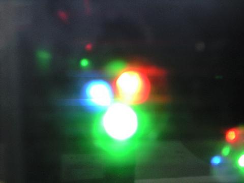 電光掲示板(の発光ダイオードのドアップ)