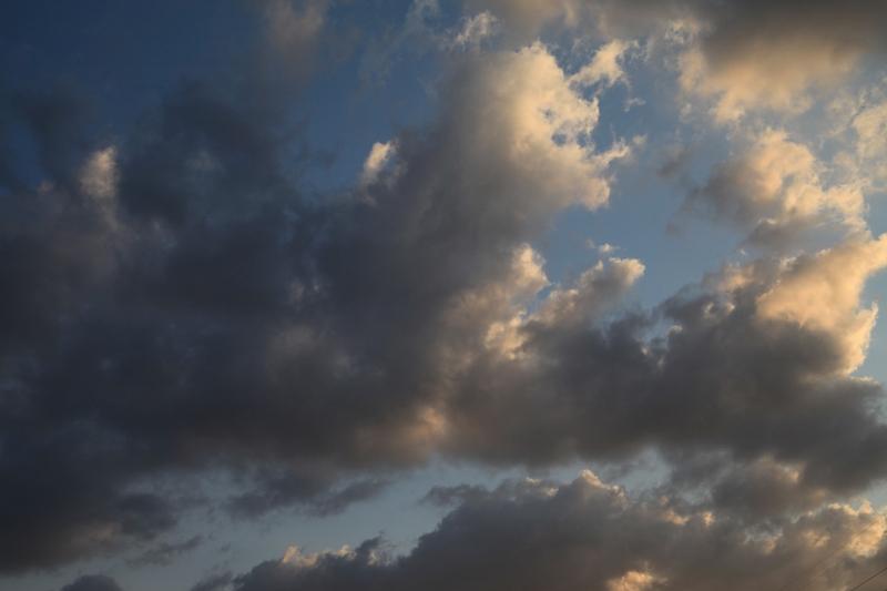 雨の合間に見上げた空