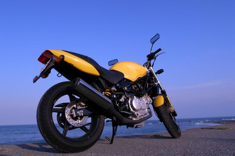 バイク Honda VTR ツーリング 南房総 外房 海岸