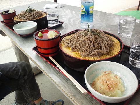 20110503白川郷でお蕎麦!!