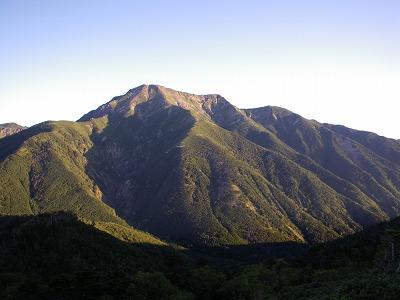 南岳への途中から聖岳