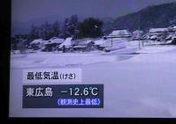 記録更新 -12.6℃