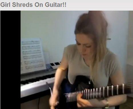 ホットガールのギター
