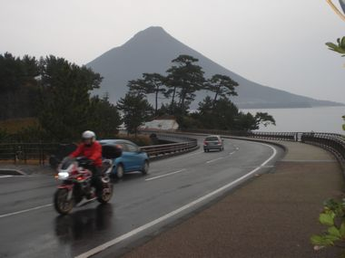 開聞岳と旅好きさん!