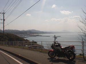 江口浜を見下ろす!