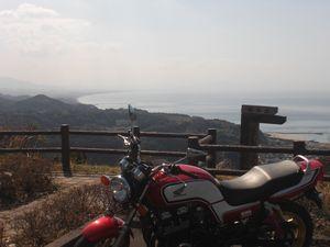江口浜とCB