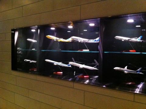 ラウンジ飛行機模型