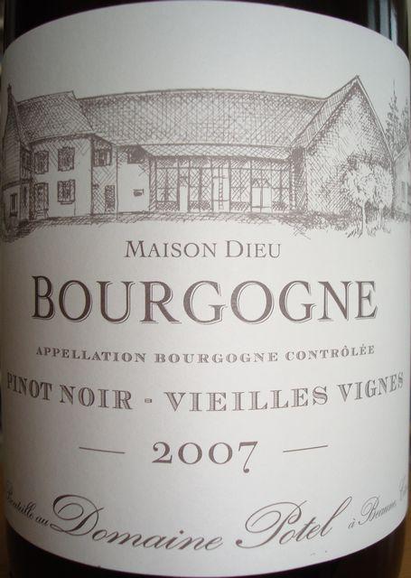 Bourgogne VV Domaine Potel 2007