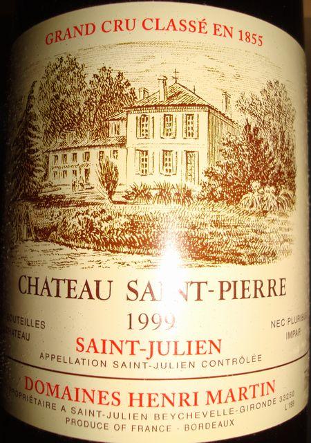 Ch Saint Pierre 1999