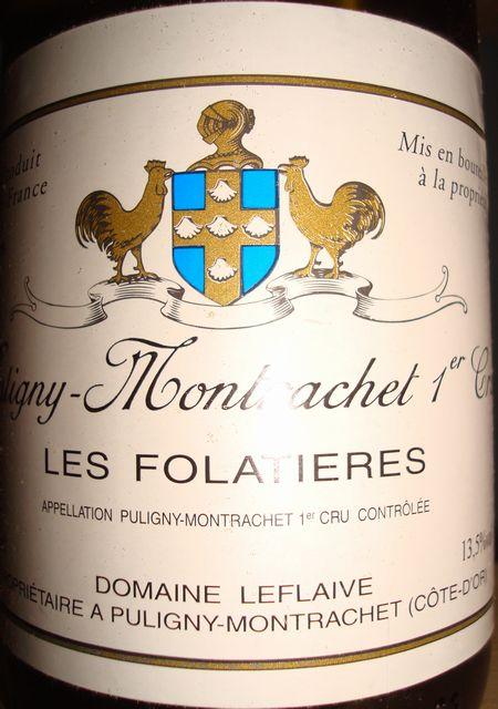 Puligny Montrachet Les Folatieres Leflaive 1999
