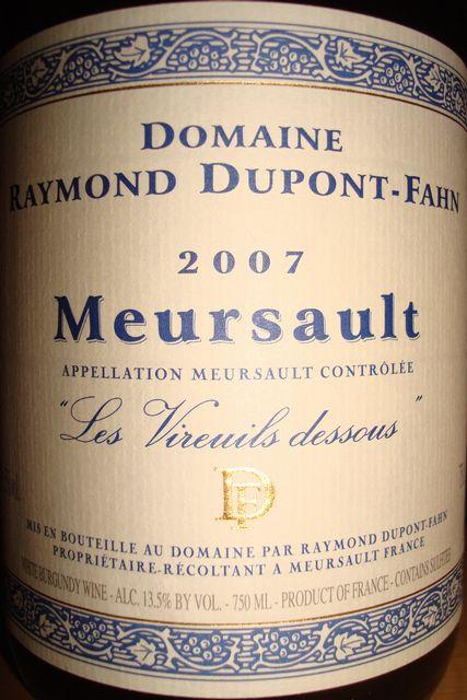 Meursault Raymond Dupont Fahn 2007