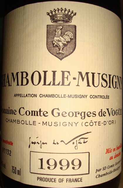 Chambolle Musigny Comte Georges de Vogue 1999