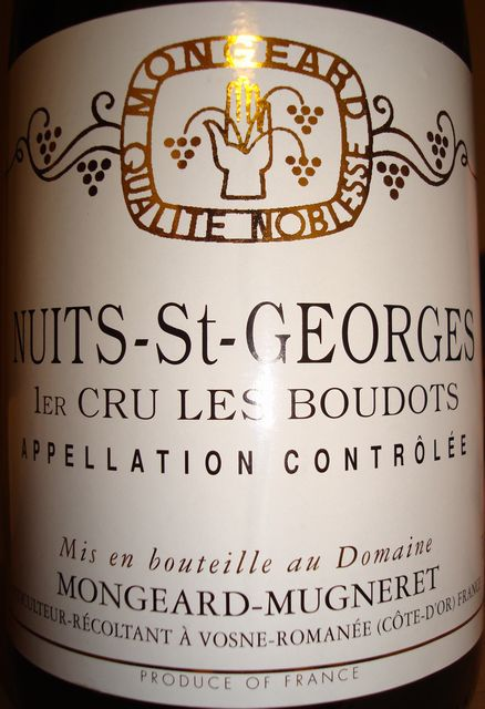 Nuits St Georges Les Boudots Mongeard Mugneret 1999.jpg
