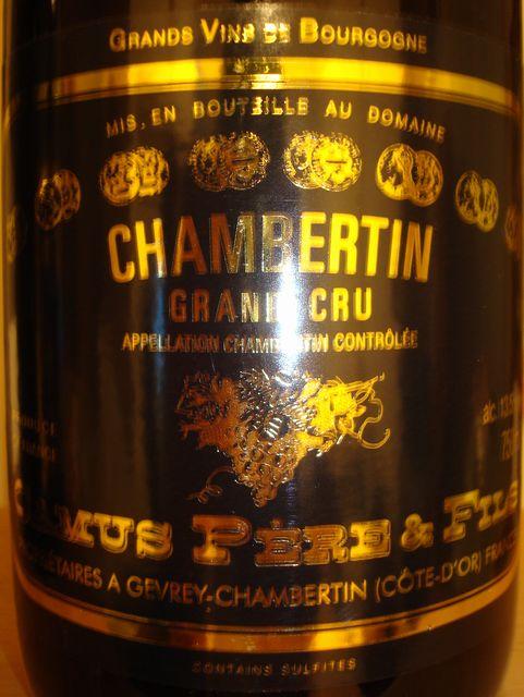 Chambertin Grand Cru Camus Peres Fils 1999