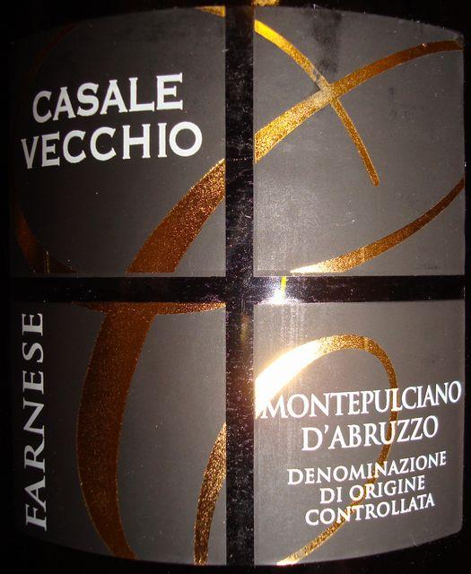 Montepulciano DAbruzzo Casale Vecchio 2007