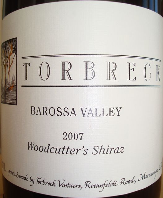 Torbreck Barossa Valley Woodcutter's Shiraz 2007