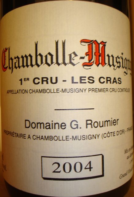 Chambolle Musigny 1er Cru Les Cras G Roumier 2004