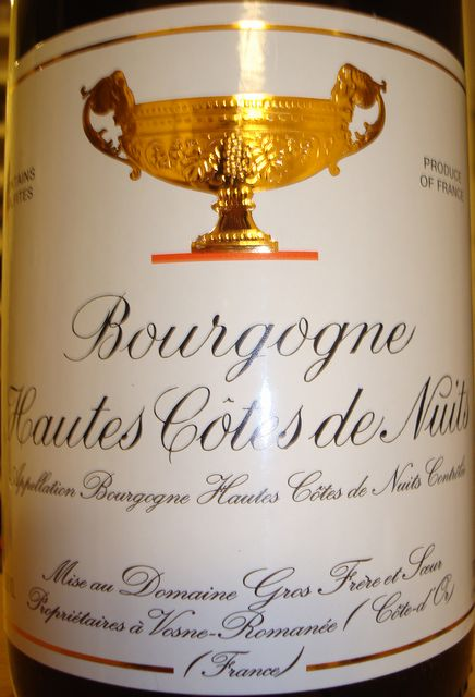 Bourgogne Hautes Cotes de Nuits Gros Frere 2007