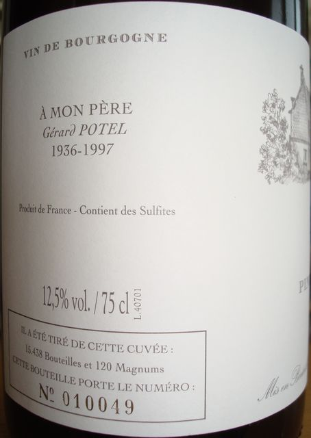 Bourgogne VV Domaine Potel 2007 _002