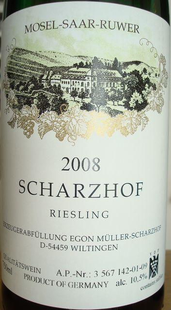 Scharzhof Riesling 2008 Egon Muller MSR