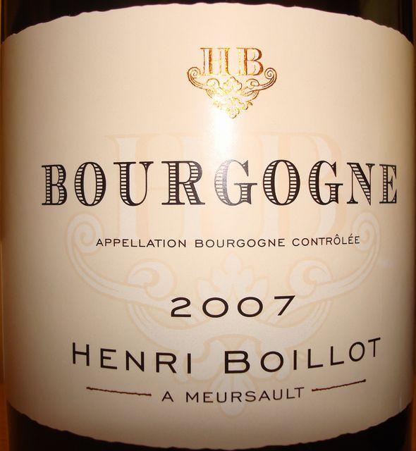 Bourgogne Henri Boillot 2007