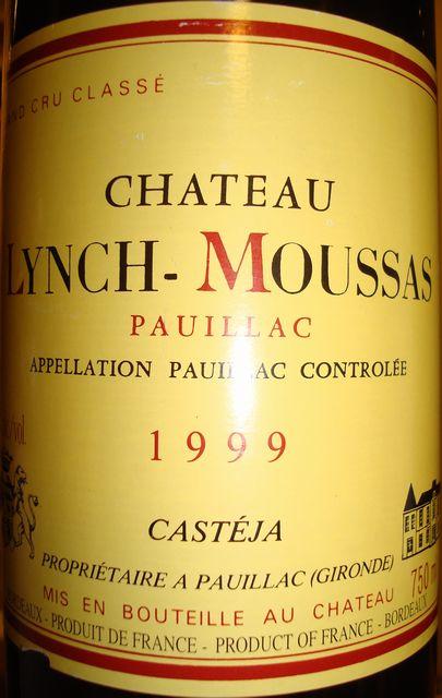 Ch Lynch Moussas 1999