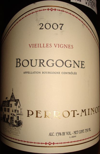 Bourgogne Vieilles Vignes Perrot Minor 2007