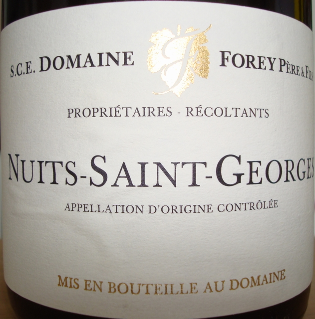 Nuits Saint Georges Domaine Forey Pere & Fils 2005