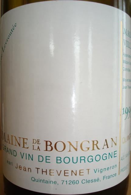 Macon Villages Blanc Cuvee Levroutee Domaine De La Bongran 1999